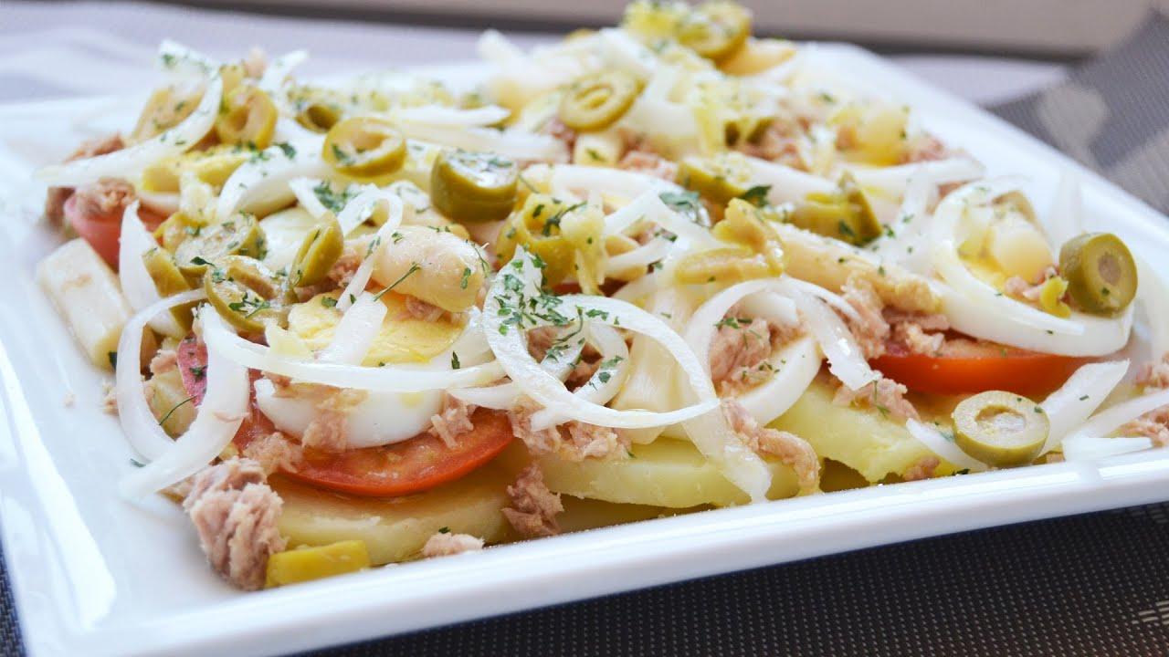 Ensalada de verano recetas de cocina youtube for Comidas sencillas