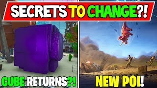 *NEW* Fortnite Season X: Secrets to Come! NEW POI's, Cube Returns! Junk Rift! and More Bubbles!