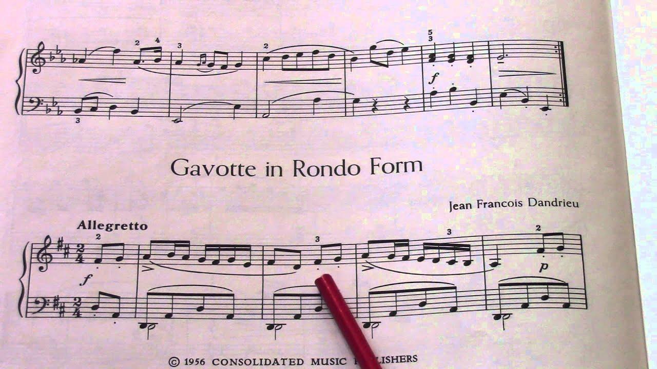 hight resolution of dandrieu gavotte