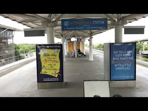 Brisbane Airport: Walking Route from International Arrivals to Airtrain