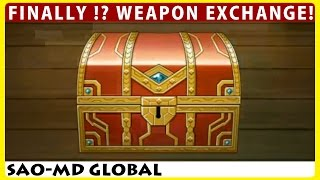 FINALLY !? Weapon Exchange 1st Day & 18 Weapon Summon (SAO Memory Defrag Global)