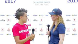 Team Canada's Rachel Moens at The World Games 2017