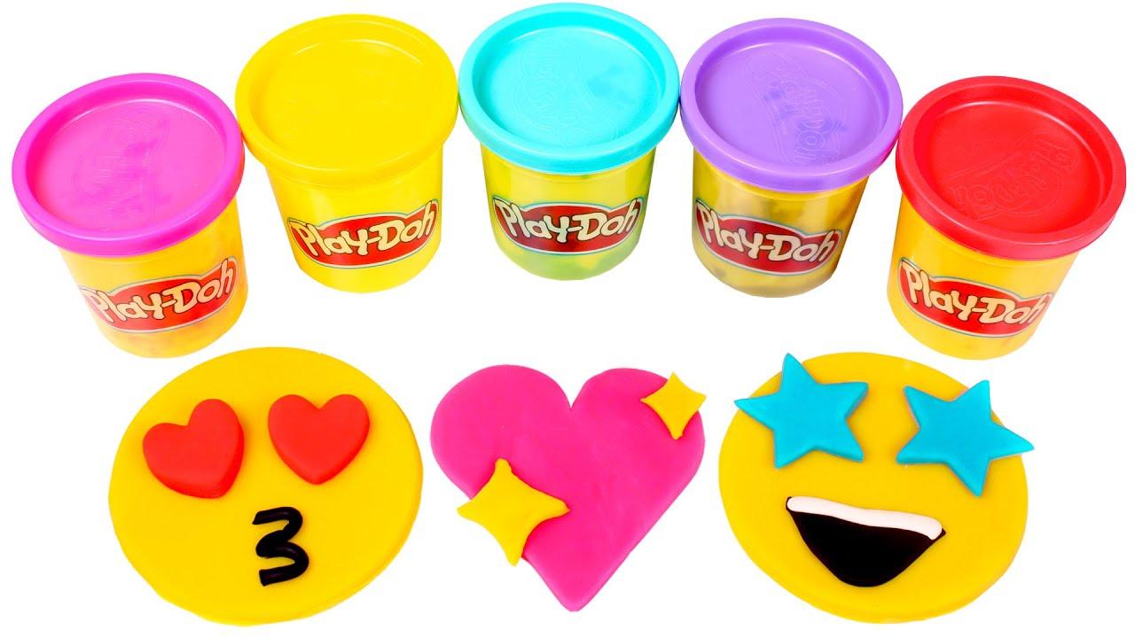 EMOJIS con Play Doh 😍🌈 Manualidades para niños