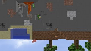 Minecraft... But The World Is UPSIDE DOWN...