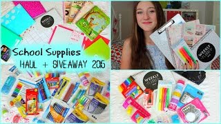 One of misscharlottebeauty1's most viewed videos: Back To School: Supplies Haul 2015 + GIVEAWAY!