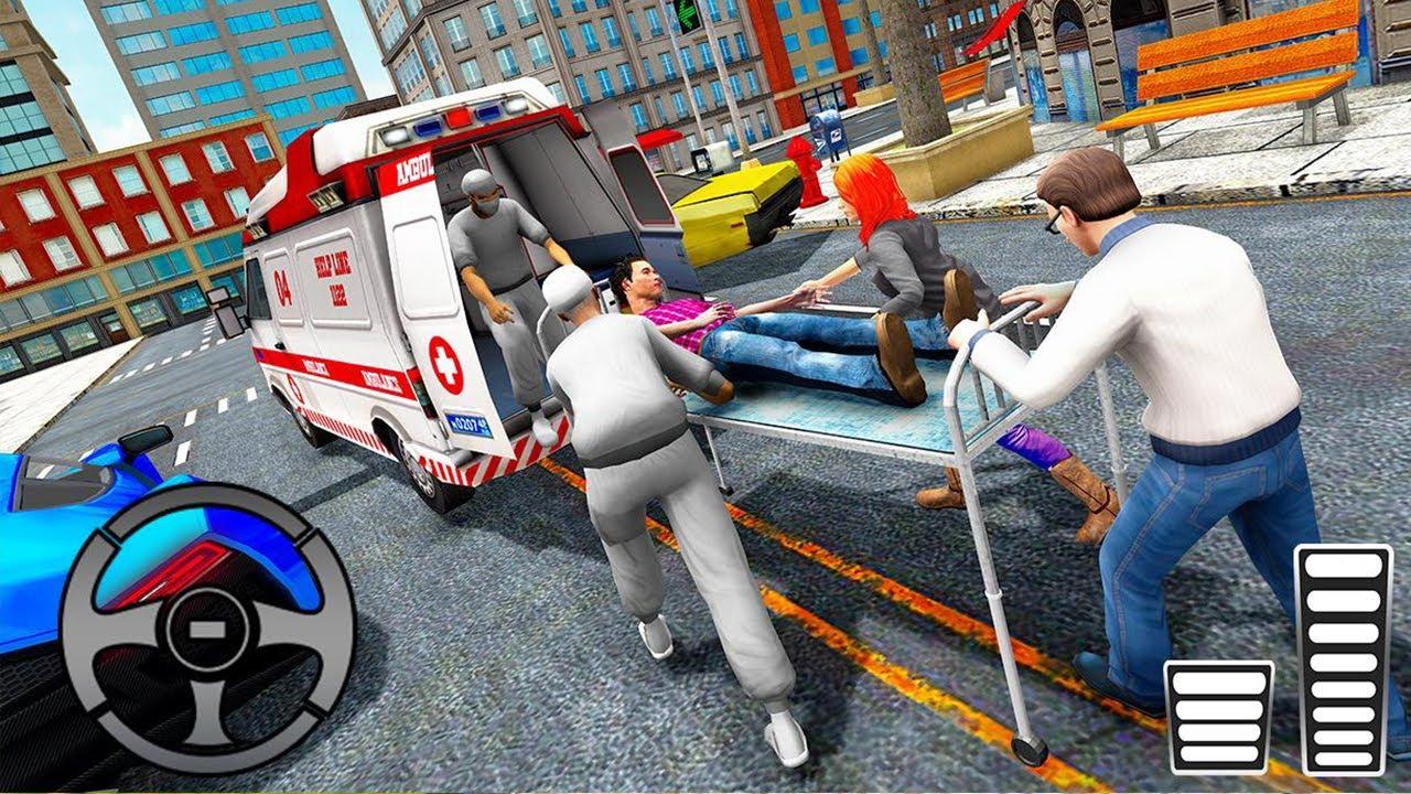 محاكي إسعاف المدينة - العاب سيارات الاسعاف - قيادة سيارة إسعاف - 911 قيادة السيارة