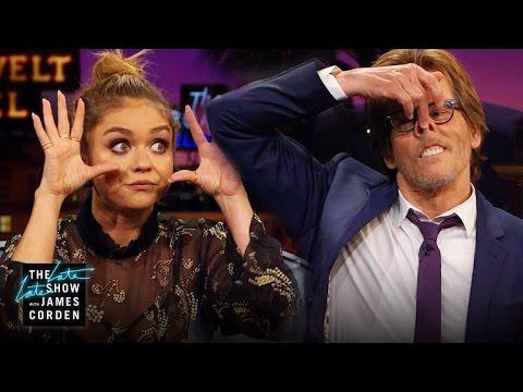 Snapchat Filters & Extreme Closeups w/ Sarah Hyland & Kevin Bacon