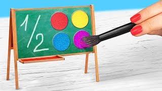 Косметика в виде канцелярии / 10 пранков и лайфхаков для школы