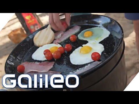 Dieser Grill kann Kleidung trocknen - Der Galileo-Extremtest | Galileo | ProSieben