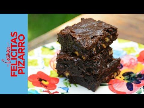 Brownies de Chocolate & Nuez muy húmedos   Felicitas Pizarro