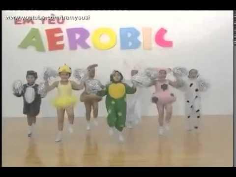 Giành cho Bé Aerobic thiếu nhi Cùng tập Aerobic với bài hát Con cào cào hài hước   YouTube