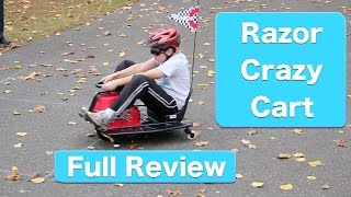 Razor Crazy Cart Review- Drifting, Spinning Electric Go-kart Of Fun!