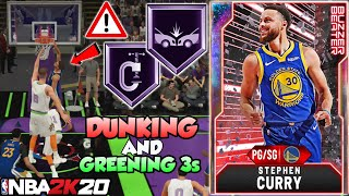 GALAXY OPAL STEPH CURRY GAMEPLAY! HE'S DUNKING AND PLAYS LOCK DOWN DEFENSE IN NBA 2K20 MYTEAM