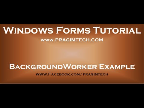 BackgroundWorker Class example in windows forms application