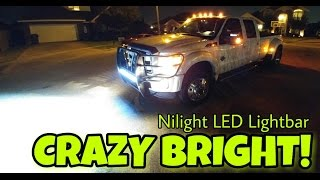 "Ford F450 Lighting up the night! Nilight LED 36"" 234w Lightbar Install"