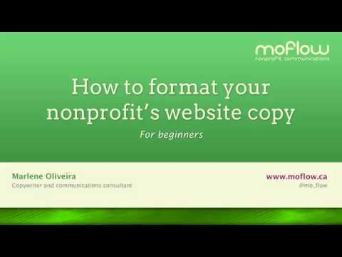 How To Format Your Nonprofit's Website Copy