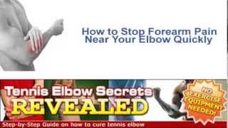 How to stop forearm pain near elbow quickly