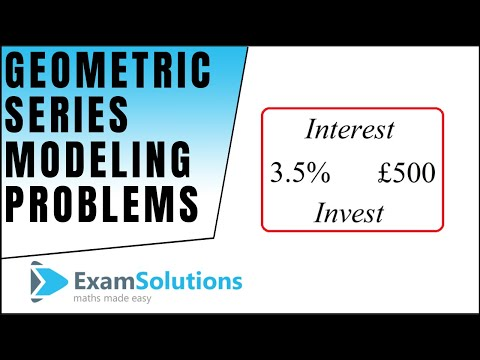 Geometric Series - How to handle Investment style problems : ExamSolutions Maths Revision