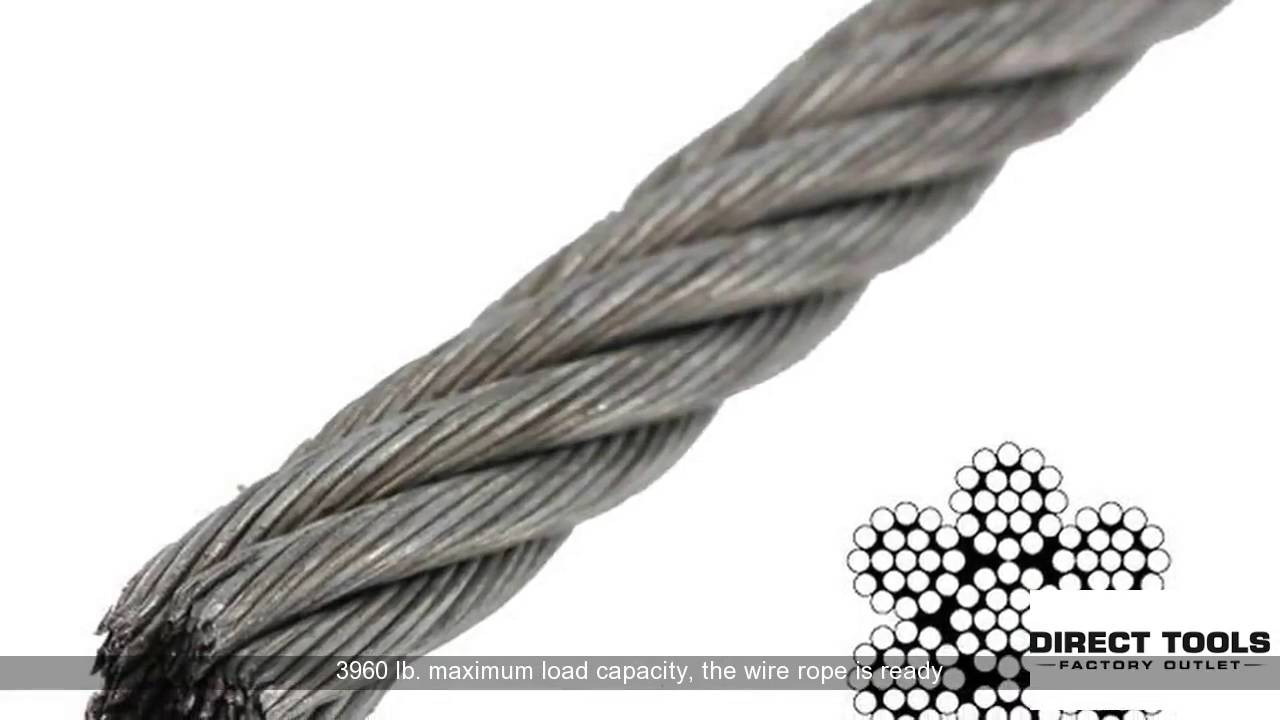 3 16 Aircraft Cable Strength | Galvanized Wire Rope - YouTube
