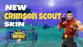 Fortnite Battle Royale Solo New Skin Crimson Scout