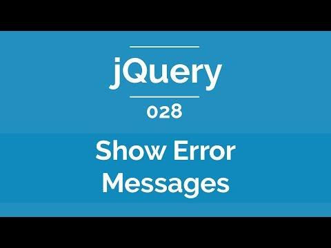 Arabic jQuery Practical Course #028 - Show Error Messages