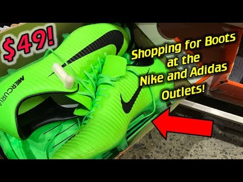 Shopping for Football Boots Soccer Cleats at the Nike and Adidas Outlet  Store f47b21f74