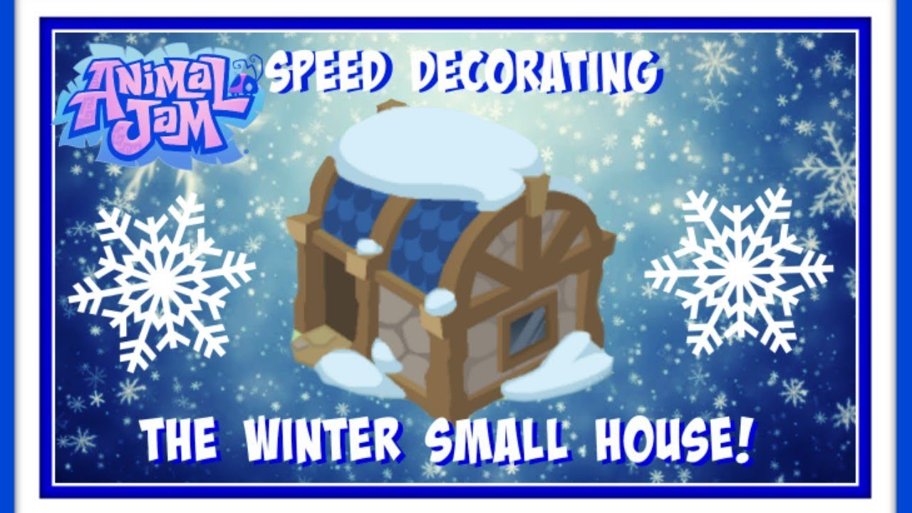 Download Animal Jam: Speed Decorating The Winter Small House Den!