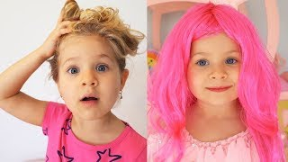 ダイアナとローマはヘアスタイルをし、着替えます