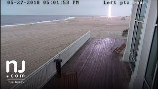 Lightning strikes lifeguard stand in Cape May