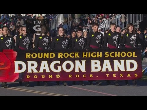 Round Rock High School Dragon Band Performs at 126th Tournament of Roses Parade