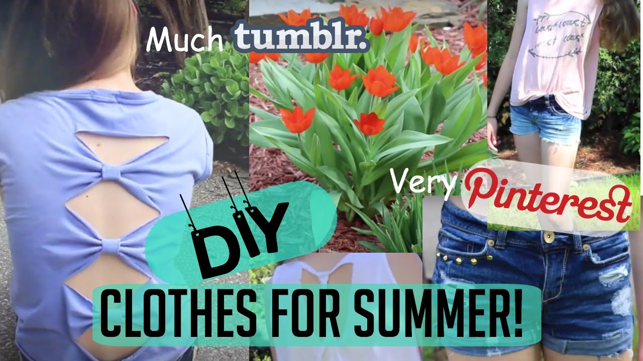DIY no-sew Clothes for summer! Tumblr/Pinterest inspired ...