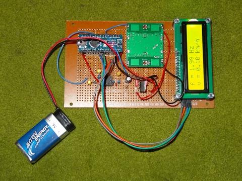 Arduino Dopplerradar HB100 - doppler radar module with arduino
