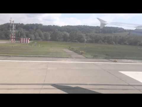 Swiss Air route Venice to Zurich landing