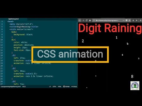 CSS animation tutorial | Digit Raining using HTML and CSS | Programming adventure thumbnail
