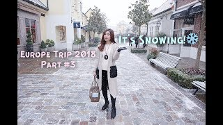 EUROPE TRIP PART #3 | LAST DAY AND IT'S SNOWING! AT PARIS | TRAVEL VLOG #9 | #MeiTravelingDiary