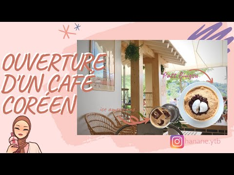 OUVERTURE DU PREMIER CAFÉ CORÉEN (à Lyon) - (ENG sub) Opening of the first korean café in my city