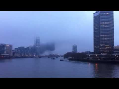 Central London helicopter crash