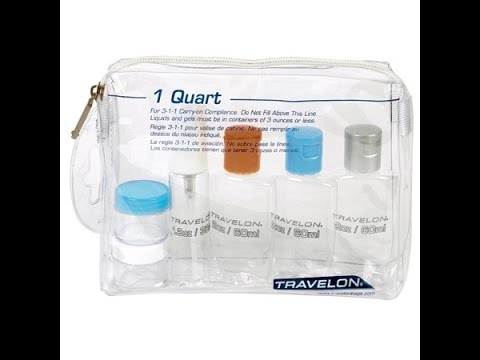Travel Bottles And Quart Bag
