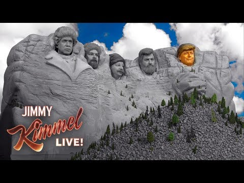 Donald Trump added to Mount Rushmore... by Jimmy Kimmel