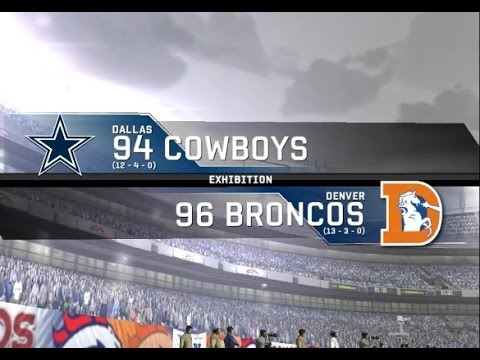1994 Dallas Cowboys vs. 1996 Denver Broncos
