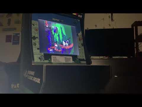 Earthworm Jim running on arcade1up from Robotical Halloween 2