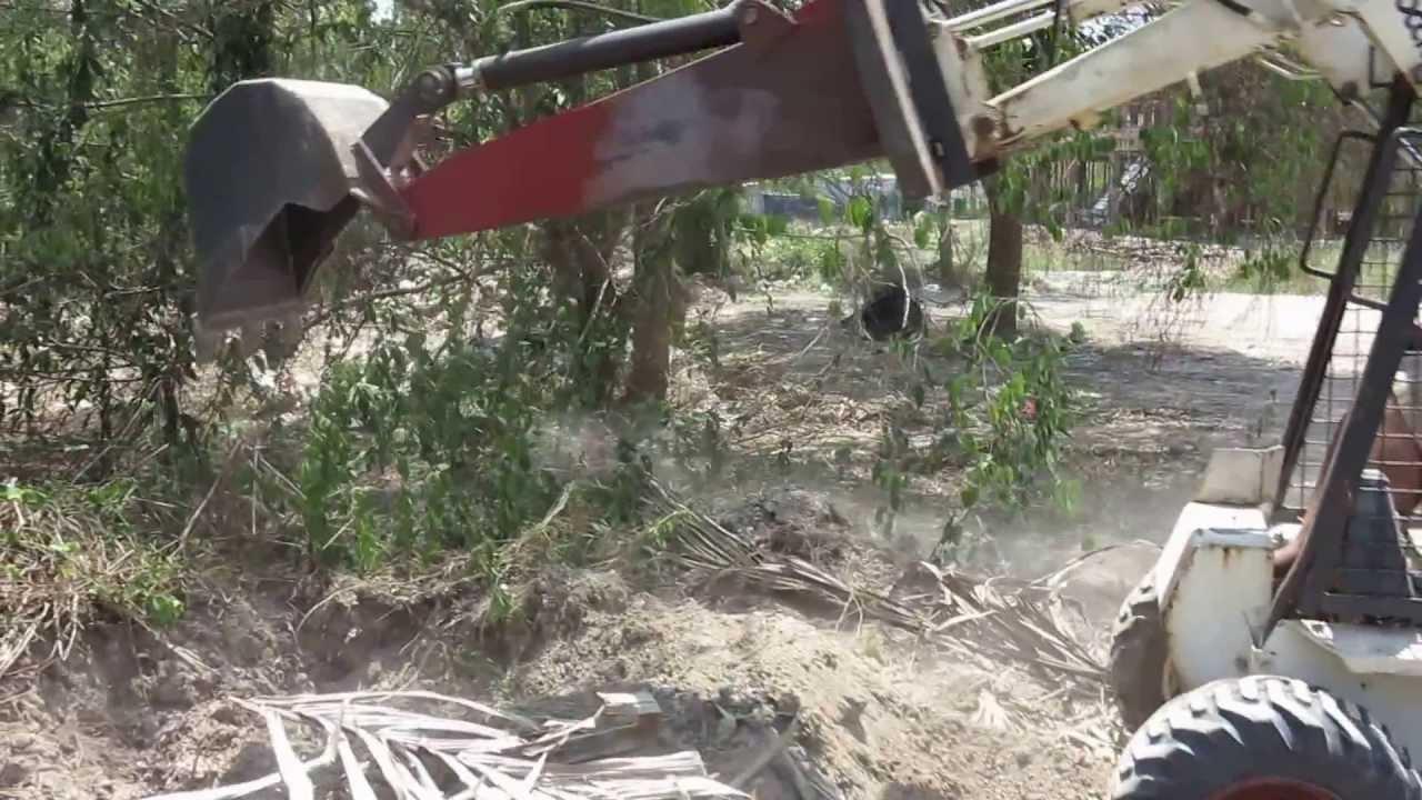 Homemade Skidsteer Backhoe Youtube