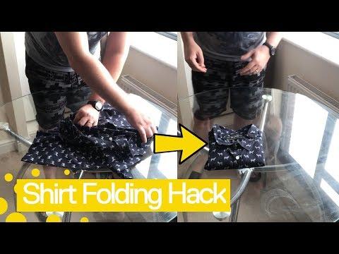 Super Fast Shirt Folding Hack - Fold A T-Shirt Like A Pro.