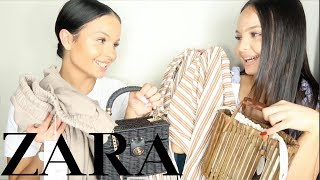 ZARA HUGE TRY ON HAUL - AYSE AND ZELIHA