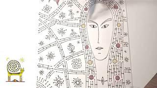 Рисование портрета девушки черным линером. Видеоурок