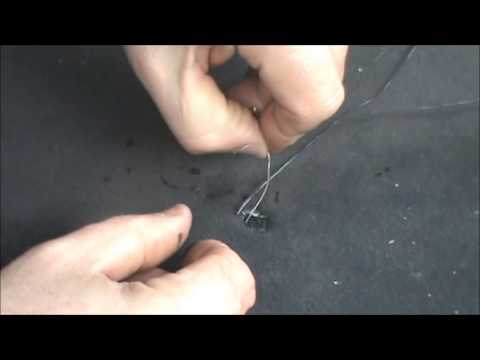 How to Fix a Cigarette Burn In A Car Seat - YouTube