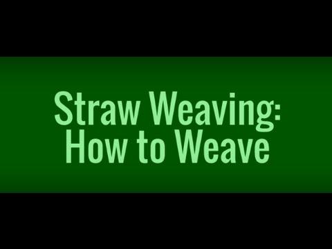 Straw Weaving: Weaving Pattern