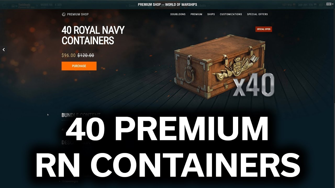 World of Warships - Opening 40 MORE Premium Royal Navy Containers
