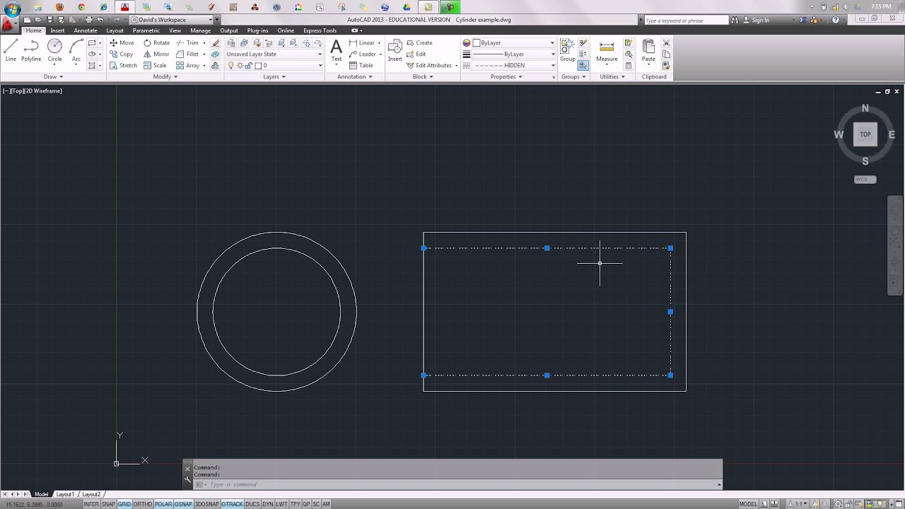 Drawing With Hidden Lines : Hidden lines in autocad youtube