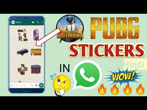 How to get pubg stickers in whatsapp   hindi   Tech V